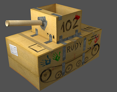 Rudy 102 - kartonowy model, studium