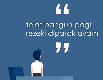 "Character Animation ""Telat Bangun"""