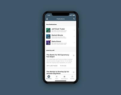 App Homescreen