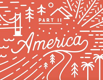 Line Animation - America
