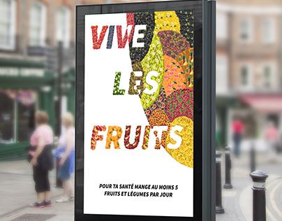 Affiche fruitée