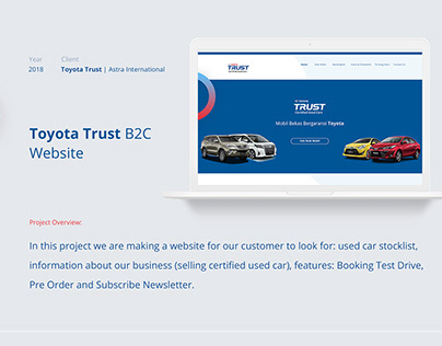Toyota Trust B2C Website - Astra International