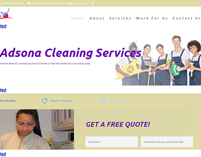 Adsona Cleaning Site
