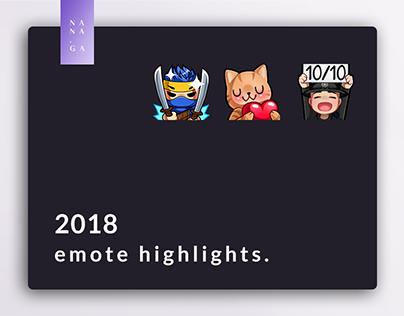 Twitch Emotes Highlights (2018)