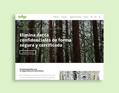 Web corporativa. ECOLOGIC