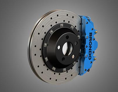 Brake Disk and Caliper 3D model