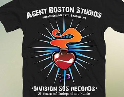 Screened Apparel for Agent Boston Studios