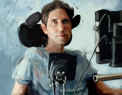 Portrait of Ady Barkan for Fast Company