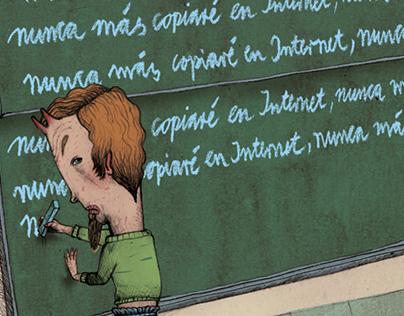Illustrations for the Press: Newspaper El País