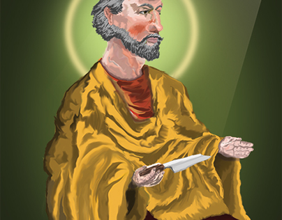 Saint Bartholomew the Apostle Illustration