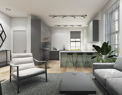 Glasgow, Park Terrace Apartment Interior Design