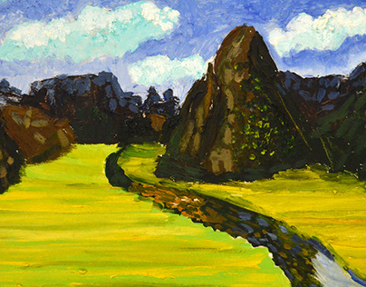 Series of paintings of the mountains