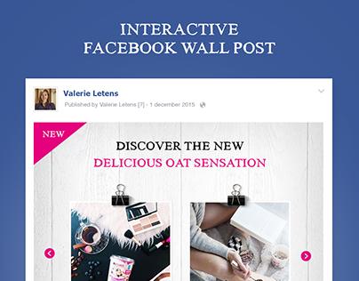 Interactive Facebook post // Delhaize