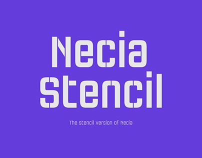 Necia Stencil Font Family