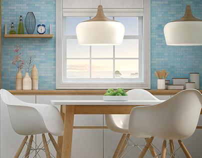 Beko - CG Visualization Project - Kitchen Concept