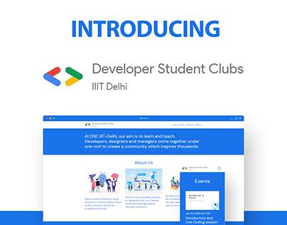 DSC IIIT-Delhi | Web Design | UX/UI