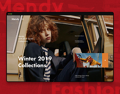 Mendy --- Fashion Online Store (UI Concept)