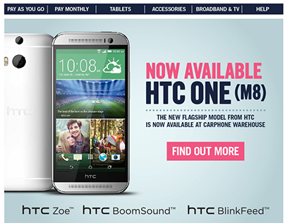 HTC One M8 - Newsletter