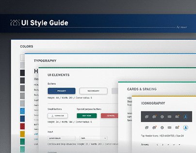 UI and StyleGuide Design for a Webapp