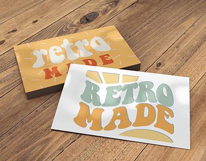 Retro Made Etsy Shop Logo