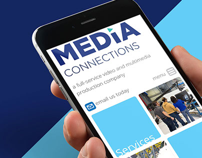 Logo and website design for Media Connections.