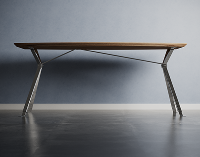 Charlie Pommier - Table Serious 3D CGI furniture