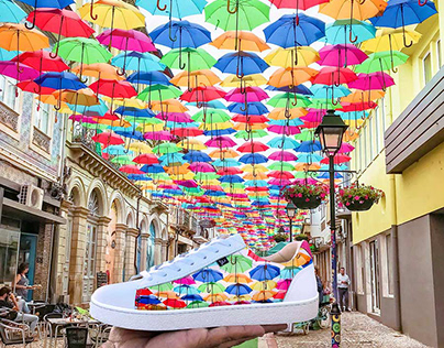 Sapatilhas Umbrella sky & Walk with art