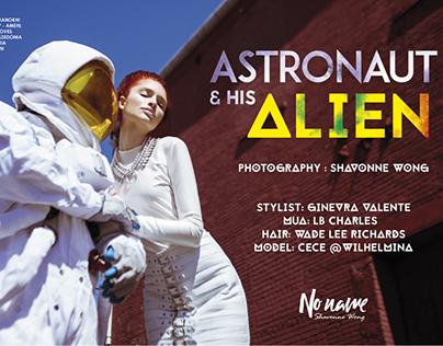 Astronaut and His Alien - No Name Magazine