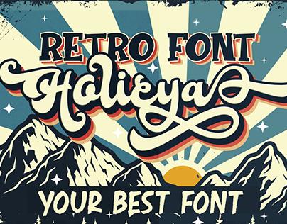 Holicya Retro Font