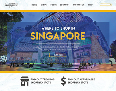Website Design - Where To Shop in Singapore