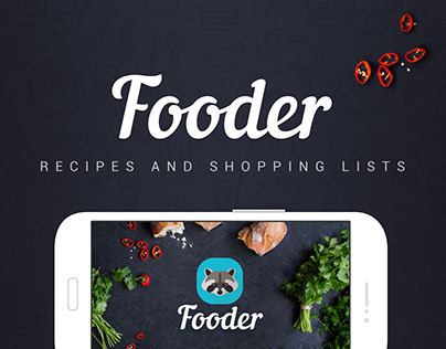 UI/UX. Fooder - mobile app with recipes and shop lists