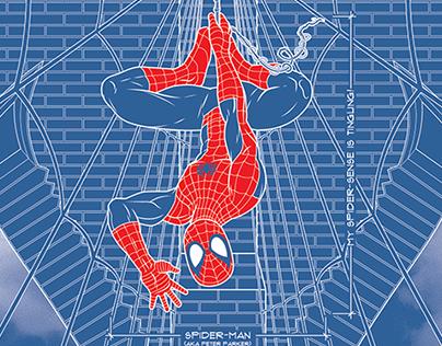 Suspension Schematic: Licensed Marvel Poster