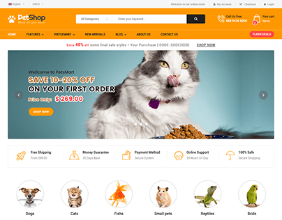 PetShop - Pet Food, Pet Shop Joomla Template