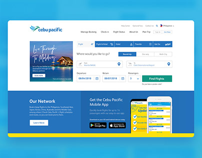 Cebu Pacific Air Website UI Improvements