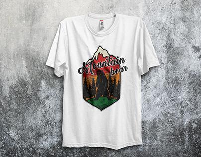 Mountain Bear T-Shirt Design