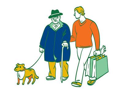 Illustrations for VUB bank charity