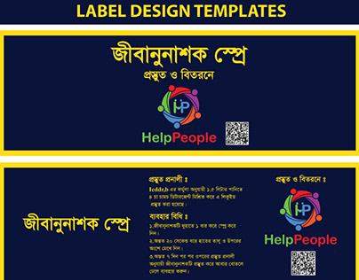 Label design template
