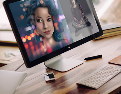 Digital Portrait Art by Shira Ink