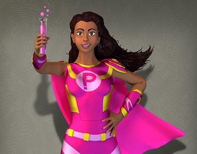 Formula Pink Character Design