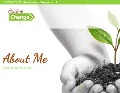 Positive Change Website design & logo Re vamp 2017