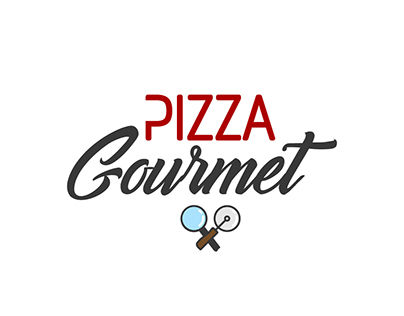 LOGO // PIZZA GOURMET // FOOD LOGO // MOCK UP