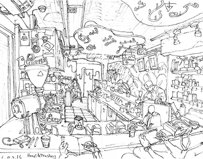 Hong Kong Restaurants sketch.