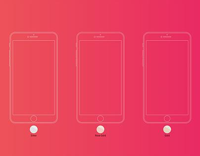 iPhone 6S line art