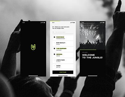 Rock Band - UX / UI App design