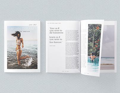 Asian Dream A4 US Letter Modern Magazine Template