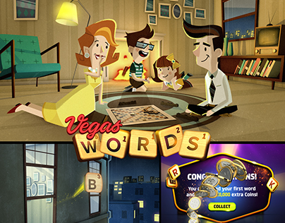 Vegas Words- Downtown Slots & Word Puzzle online game