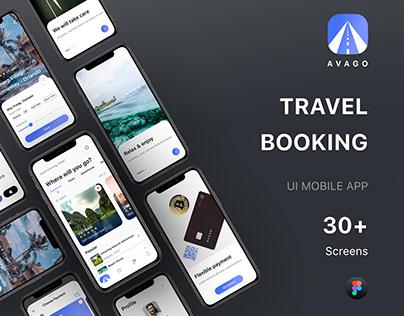AVAGO - Travel Booking UI Mobile App