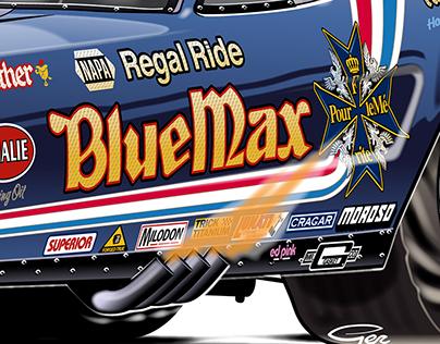 Blue Max 1976 Funny Car - Adobe Illustrator