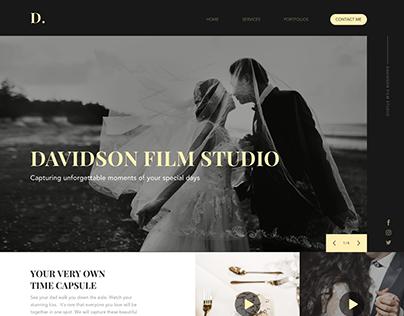 Wedding film studio landing page