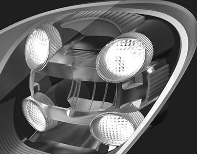 Porsche headlights 918 spyder & details